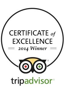 Locanda Nemorosa - TripAdvisor - Certificate of excellence - 2014